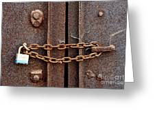 Locked Greeting Card by Olivier Le Queinec