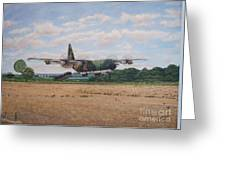 Lockhead C-130h Hercules Leipes Greeting Card by Carlos De Vasconcelos Tavares