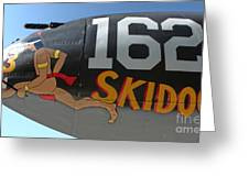 Lockheed P-38 - 162 Skidoo - 05 Greeting Card by Gregory Dyer