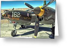 Lockheed P-38 - 162 Skidoo - 07 Greeting Card by Gregory Dyer
