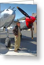 Lockheed P-38l Lightning Honey Bunny  - 05 Greeting Card by Gregory Dyer