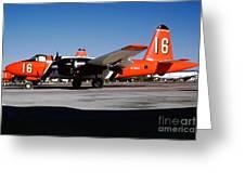 Lockheed P2v-7 Neptune Firefighting Airtanker N716au Greeting Card by Wernher Krutein