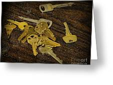 Locksmith - Rejected Keys Greeting Card by Paul Ward