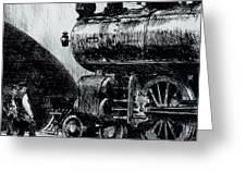 Locomotive Greeting Card by Edward Hopper
