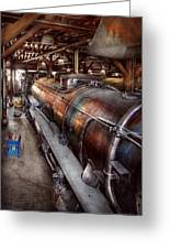 Locomotive - Routine Maintenance  Greeting Card by Mike Savad