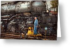 Locomotive - The Gandy Dancer  Greeting Card by Mike Savad