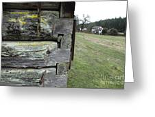 Log House Detail Greeting Card by Graham Foulkes
