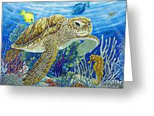 Logging Sea Time Greeting Card by Danielle  Perry