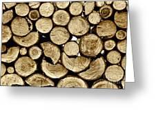 Logs Greeting Card by Jeff Breiman