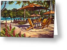 Lola's In Costa Rica Greeting Card by Christie Michael