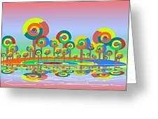 Lollypop Island Greeting Card by Anastasiya Malakhova