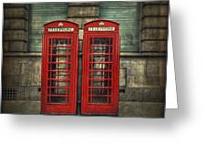 London Calling Greeting Card by Evelina Kremsdorf