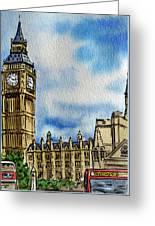 London England Big Ben Greeting Card by Irina Sztukowski