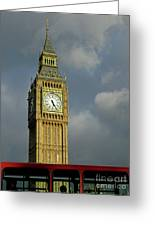 London Icons Greeting Card by Ann Horn