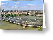 London Panorama Greeting Card by Mariola Bitner