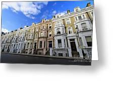 London Street Greeting Card by Mariusz Czajkowski