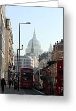 London Town Greeting Card by Pat Purdy