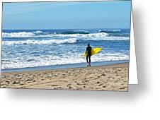 Lone Surfer Greeting Card by Susan Wiedmann