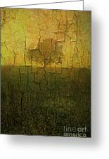 Lone Tree In Meadow -textured Greeting Card by David Gordon