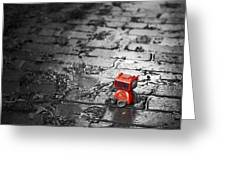 Lonely Little Robot Greeting Card by Scott Norris