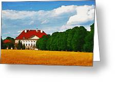 Lonely Mansion Greeting Card by Ayse Deniz