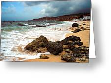 Long Bay - A Place To Remember Greeting Card by Hannes Cmarits