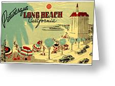 Long Beach 1946 Greeting Card by Nomad Art And  Design