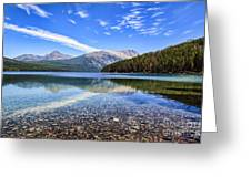 Long Knife Peak At Kintla Lake Greeting Card by Scotts Scapes