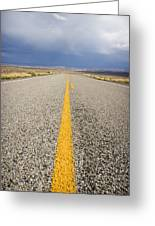 Long Lonely Road Greeting Card by Adam Romanowicz