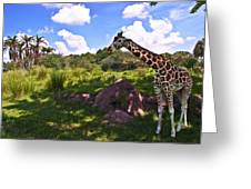 Long Neck Greeting Card by Ryan Crane