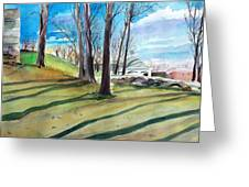 Long Shadows Greeting Card by Scott Nelson