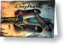 Longboards Greeting Card by Louis Ferreira