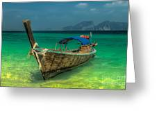 Longboat Greeting Card by Adrian Evans