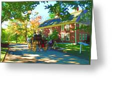 Longfellows Wayside Inn Greeting Card by Barbara McDevitt