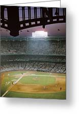 Brillant Yankee Stadium Greeting Card by Retro Images Archive