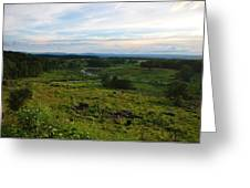Looking Down on Devils Den Greeting Card by William Fox