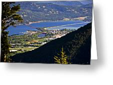 Looking Down On Sandpoint Greeting Card by Albert Seger