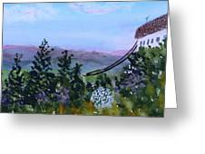 Looking Out From Top Of Jay Peak  Greeting Card by Donna Walsh