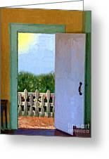 Looking Out My Back Door Greeting Card by RC DeWinter