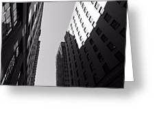 Looking Up In Nashville Black And White Greeting Card by Dan Sproul