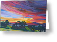 Looking West From Amador Hills Greeting Card by Vanessa Hadady BFA MA