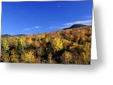 Loon Mountain Foliage Greeting Card by Luke Moore