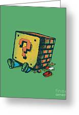 Loose Brick Greeting Card by Budi Satria Kwan