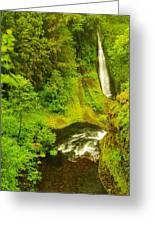Loowit Falls Greeting Card by Jeff  Swan