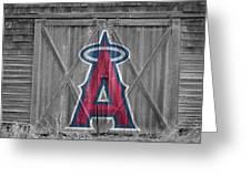 Los Angeles Angels Greeting Card by Joe Hamilton