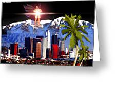 Los Angeles Greeting Card by Daniel Janda
