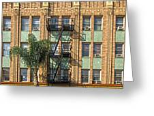 Los Angeles Facade Greeting Card by Gregory Dyer