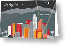 Los Angeles Greeting Card by Karen Young