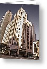 Los Angeles  - Title Guarantee Building Greeting Card by Gregory Dyer