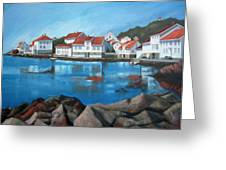 Loshavn Greeting Card by Janet King
